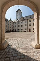 Schloss Mergentheim palace with the Deutschordensmuseum museum of the German Order, Bad Mergentheim, Baden_Wuerttemberg, Germany, Europe