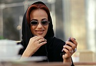 Arab Lady on phone