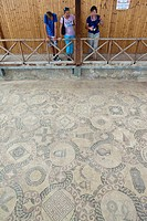 Mosaic floor, excavation site, Kato Paphos resort, Houses of Dionysos, UNESCO World Heritage site, Paphos, Cyprus