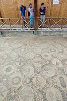 Mosaic floor, excavation site, Kato Paphos resort, Houses of Dionysos, UNESCO World Heritage site, Paphos, Cyprus