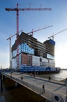 Elbe Philharmonic Hall under construction, Hamburg, Germany