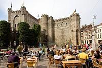 castle, Gravensteen, Ghent, Flanders, Belgium