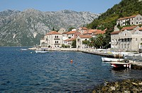 Montenegro, Kotor Bay, Perast  Old city and the port