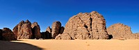 Sandstone rock formation at Tikobaouine, Tassili n´Ajjer National Park, Unesco World Heritage Site, Wilaya Illizi, Algeria, Sahara, North Africa