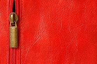 Red leather with zipper