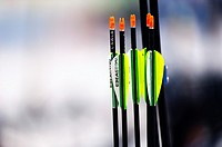 Colored arrows for archery