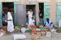 Market scene in Atar, Mauretania, northwestern Africa