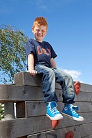 Portrait of a red_haired Irish boy, Ballymun, Dublin, Republic of Ireland, Europe