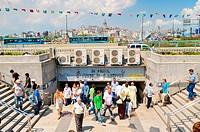 Metro stop Yuksehir Belediyes Istanbul Turkey