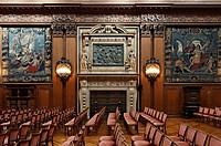 Great Hall, Concert Hall, Villa Huegel, former home of the Krupp family, Essen-Baldeney, North Rhine-Westphalia, Germany, Europe