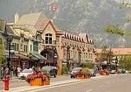 Cascade Plaza mall, Banff Avenue, Banff National Park, Canadian Rocky Mountains, Alberta, Canada