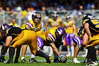 American Football, Euro Bowl, Vienna Vikings versus Berlin Adler in Hohe Warte Stadium, Vienna, Austria, Europe