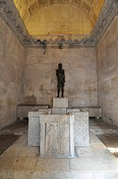 Statue of John the Baptist and baptismal font, Jupiter Temple, Palace of Diocletian, Split, Croatia, Europe