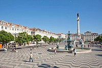 Rossio Square, Lisbon, Portugal, Europe