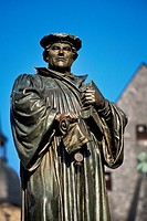 Memorial, Martin Luther, Lutherstadt Eisleben, Mansfelder Land district, Saxony_Anhalt, Germany, Europe
