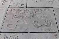 Humphrey Bogart, hands and footprints, Hollywood Boulevard, Los Angeles, California, USA