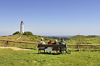 Dornbusch lighthouse, 72 metres, Hiddensee Island, district of Ruegen, Mecklenburg-Western Pomerania, Germany, Europa