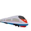 Illustration of high speed train