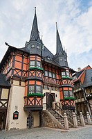 The historic town hall in Wernigerode, Harz, Germany, Europe