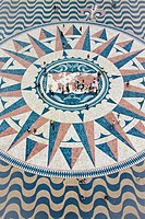 Portugal, Europe, Lisbon, compass rose, mosaic, tourist, art, skill, plastic