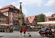 Koenigsplatz Square, Schwabach, Middle Franconia, Franconia, Bavaria, Germany, Europe