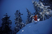 Downhill skiing, Grouse Mountain, British Columbia, Canada