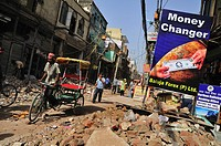 Main shopping street Paharganj where is front of New Delhi satiation, is on big road work Width of the street got wider All the shops facing to the st...