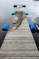half sunk wooden jetty
