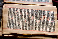 Antique hand script book of Hindu