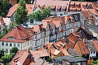 View from the Schloss Wernigerode castle on the town of Wernigerode, Harz, Saxony_Anhalt, Germany, Europe