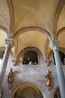View inside the imperial chapel, Imperial castle, Nuremberg, Franconia, Bavaria, Germany