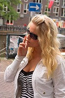 blonde with cigarette