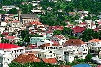 Houses of St.Georges, Grenada, Caribbean, America