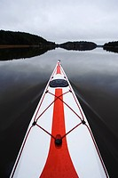 Kayak floating on water