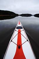 Kayak floating on water