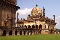 Ibrahim_Rauza built by Ibrahim Adil Shah II in Bijapur , Karnataka , India