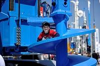 DELMAG rotary drill, Bauma 2010 fair trade for construction equipment, Messe Munich, Bavaria, Germany, Europe