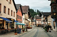Ludwig street, Garmisch, Bavaria, Germany
