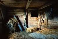 Still-life of old barn interior