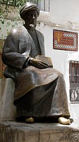 Monument to Jewish philosopher Maimonides 1135-1204 in la Juderia quarter  Cordoba  Andalusia  Spain