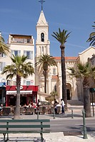 France, Provence, Cote d'Azur, Var, Sanary sur Mer, village, church