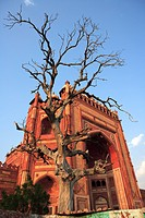 Buland Darwaza in Fatehpur Sikri made from red sandstone built during second half of 16th century , Agra , Uttar Pradesh, India UNESCO World Heritage ...