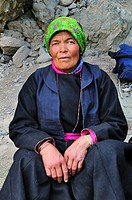Woman at Hemis Gompa. Jammu and Kashmir, India