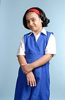 South Asian Indian girl in school uniform MR 719B
