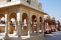 Chhatri in royal crematorium , Sagar , Bikaner , Rajasthan , India