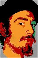 Digitally altered portrait of artist