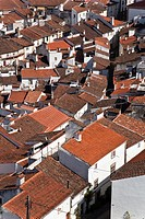 Castelo de Vide rooftops seen from the Castle Tower  Castelo de Vide, Portalegre District, Alto Alentejo, Portugal