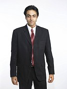 South Asian Indian executive standing in relax pose MR702A