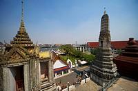 View from Wat Arun Temple, Bangkok, Thailand, Asia
