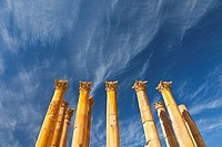 Temple of Artemisa or Diana, Greco-Roman city of Jerash, Jordan, Middle East.